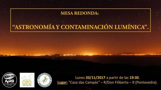 Mesa Redonda Astronomía y Contaminación Lumínica