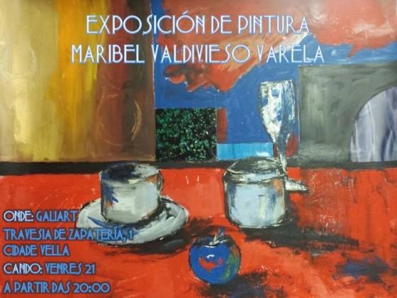 Presentación da exposición de pintura de Maribel Valdivieso